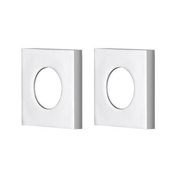 Udo Master Rail Large Square Back Plate Chrome-Pair (LSCP-C)