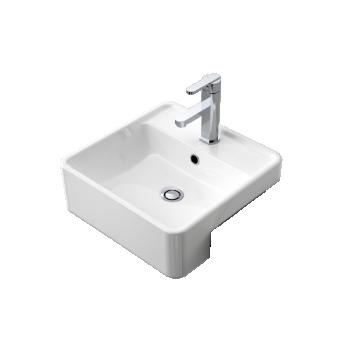 Caroma Carboni Ii Semi Recessed Ceramic Basin 1Th