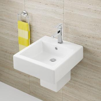 Caroma Hand Wall Basin Liano White 1Th Centre (649715W)