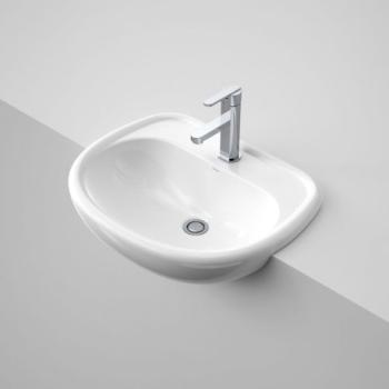 Caroma Semi Vanity Basin C'Velle 550 1Th White (659710W)