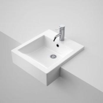 Caroma Semi-Recessed Vanity Basin Liano 3Th White (661235W)