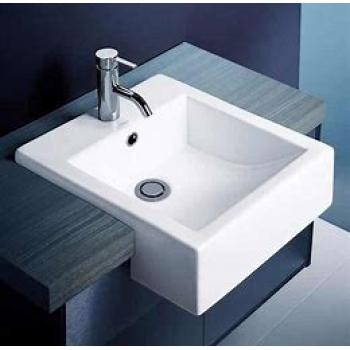 Caroma Semi-Recessed Vanity Basin Liano 1Th White (661215W)