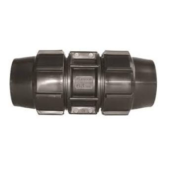 POLY COMPRESSION METRIC COUPLING 25MM