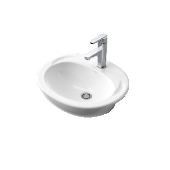Caroma Concorde Semi Recessed Ceramic Basin 1Th