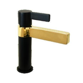 Jamie J Martini Luxe Basin Mixer Matte Black/Polished Gold