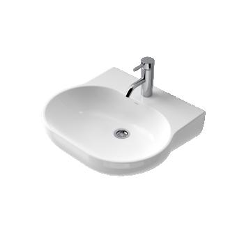 Caroma Opal 510 Ceramic Wall Basin 1Th