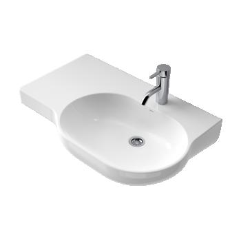 Caroma Opal 720 Ceramic Wall Basin & Shelf 1Th