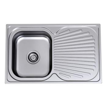 CLARK VITAL 780MM  SINK1BOWL 1DRAIN LHB OR RHB 1TH 1123