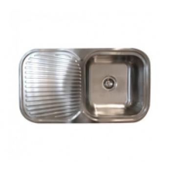 NEKO CANBERRA 850MM SINGLE BOWL SINK 1TH L/H BOWL NS600105