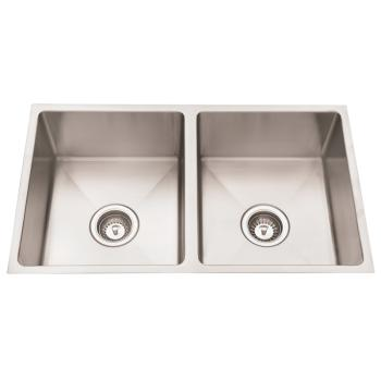 Everhard Squareline Plus Double Bowl Under Or Over Mount Sink 0Th