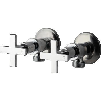 BRASSHARDS AMANE WASHING MACHINE TAPS CROSS HANDLE (11SL672C)