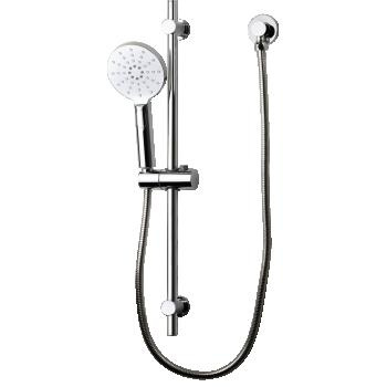 BRASSHARDS MIXX ROUND RAIL SHOWER SET (11RHS02CL)