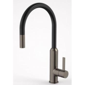 DORF VIXEN RETRACTABLE SINK MIXER BLACK NICKEL (6495.094A)