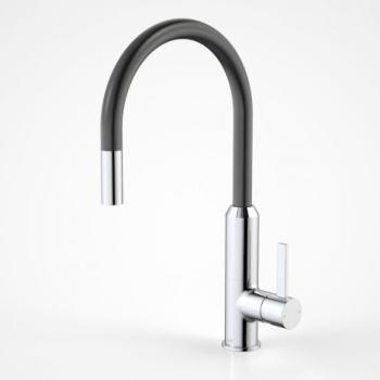 DORF VIXEN RETRACTABLE SINK MIXER BLACK (6495.094A)