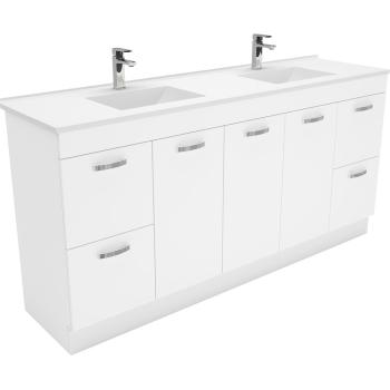 Fienza Vanessa 1800Mm Uni Can Vanity On Kick Double Bowl 1Th