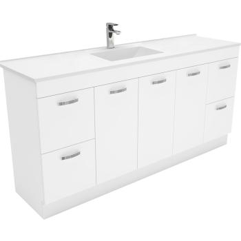 Fienza Vanessa 1800Mm Uni Cab Vanity On Kick Single Bowl 1Th